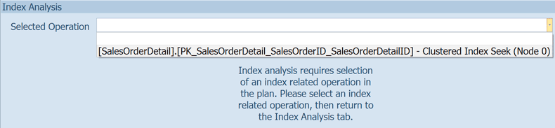 You need to pick an index operation to analyze.