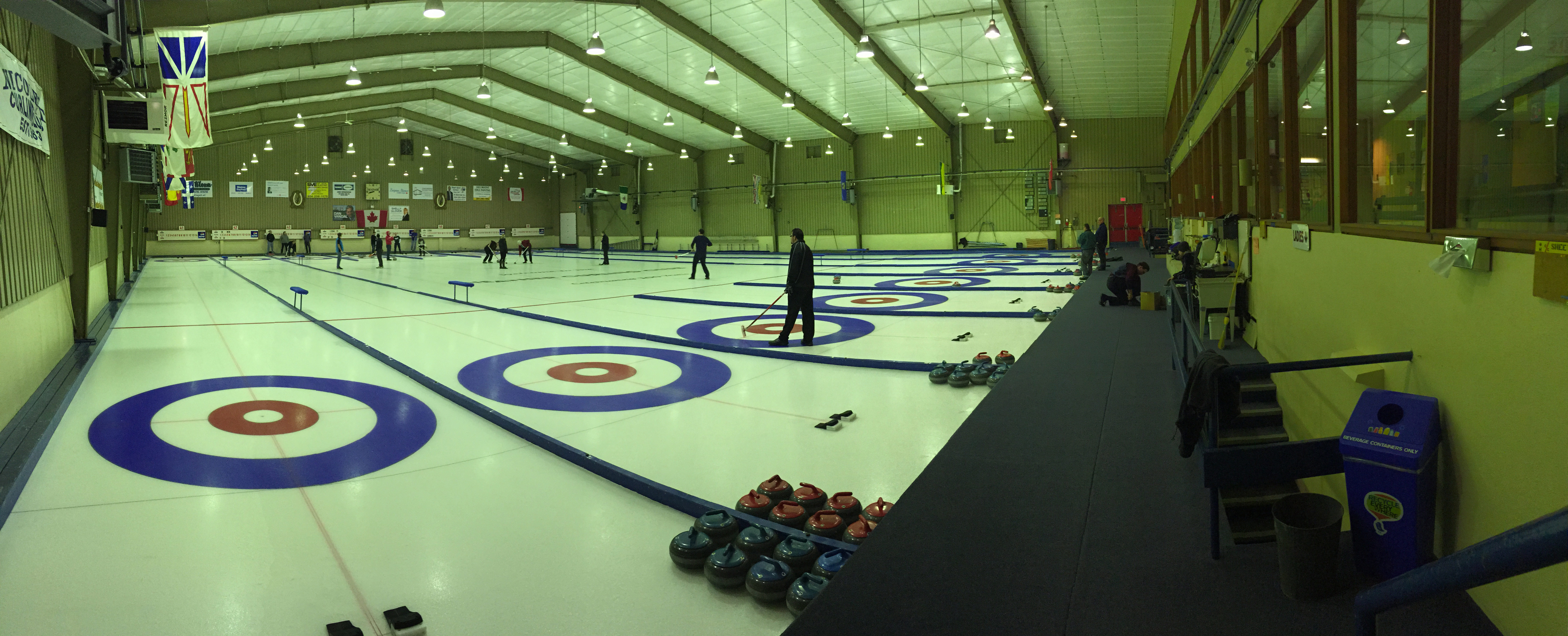 Panoramic view of Heather Curling Club