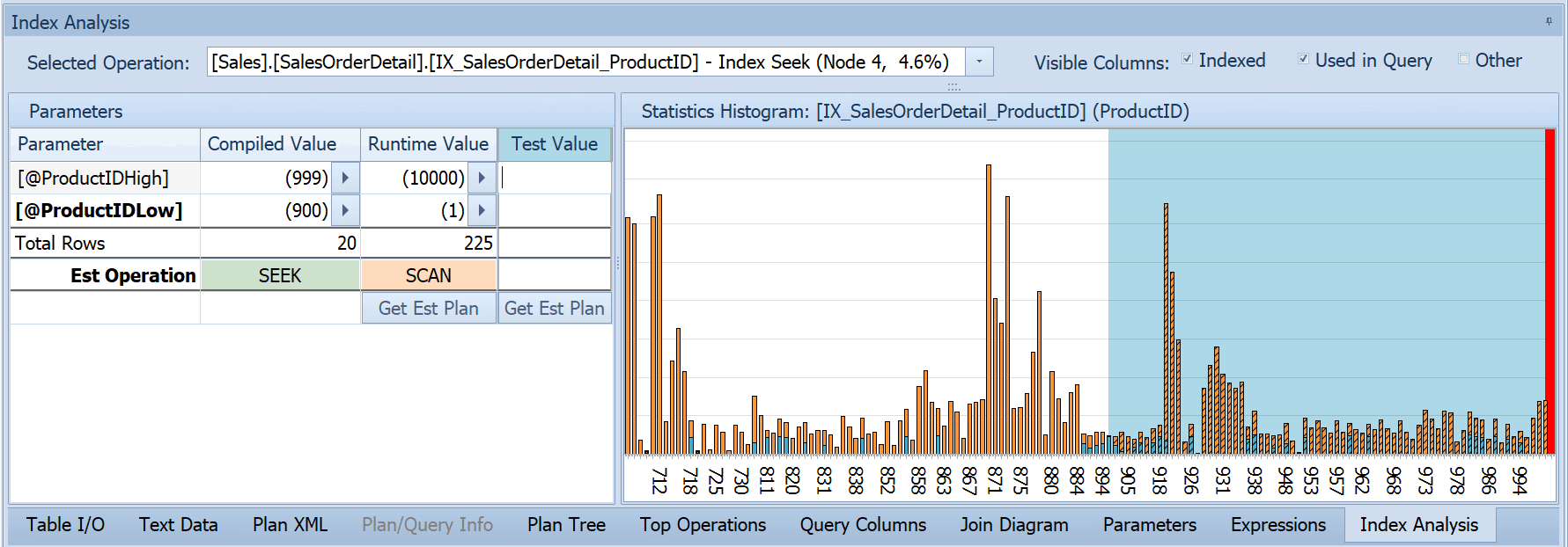 Statistics Analysis With Histogram Screenshot