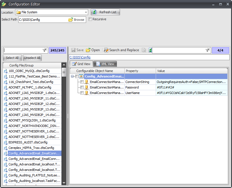 BI xPress Work with Configurations