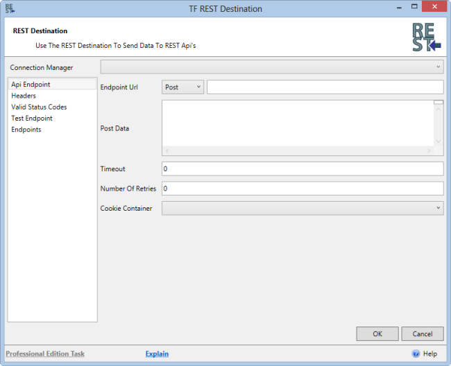 Task Factory REST SSIS Destination