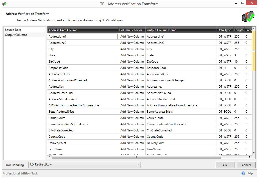Task Factory USPS Address Verification