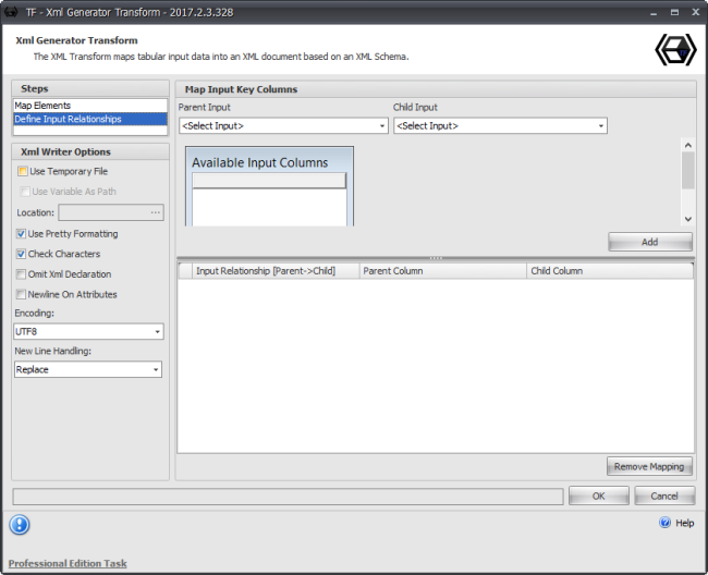 Task Factory XML Generator Transform