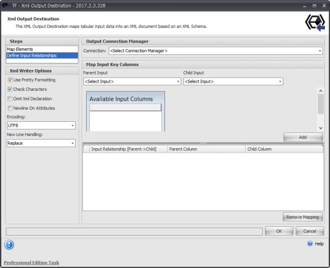 Task Factory XML Output Destination