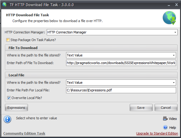 Task Factory Download File Task