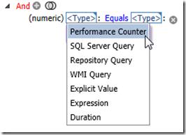 Custom Condition Source Dropdown