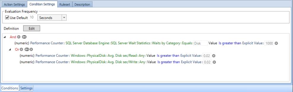 SQL Sentry Custom Condition Editor
