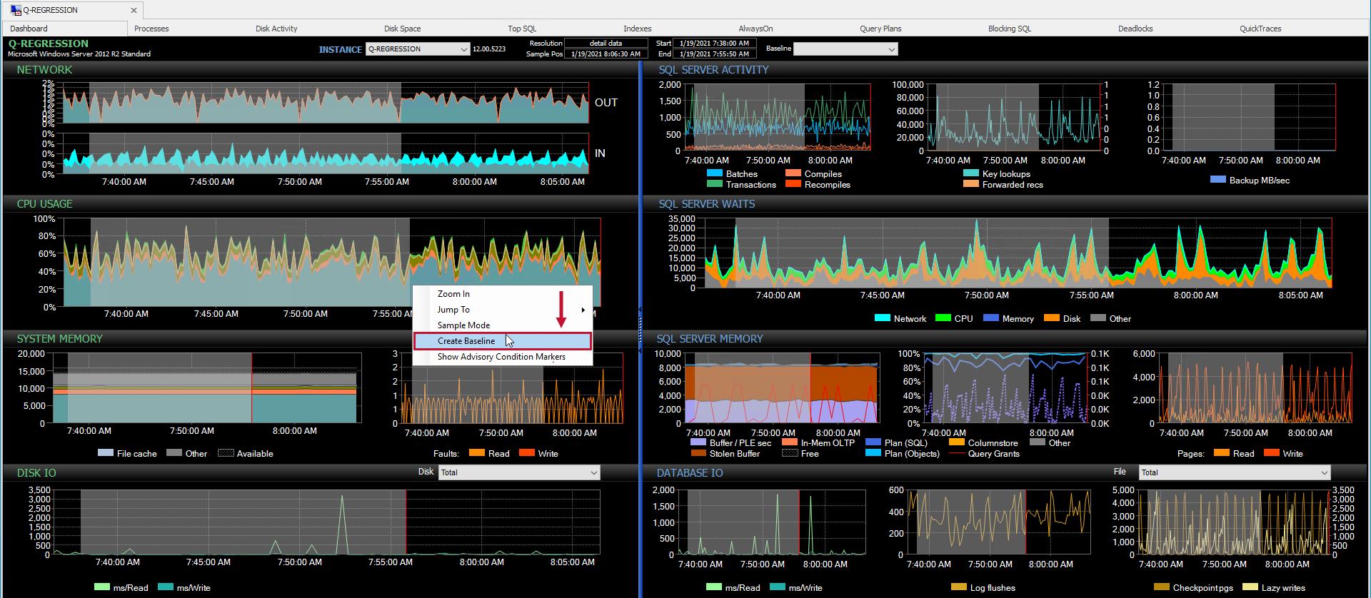 sentryone-performance-analysis-dashboard-create-baseline-2021